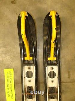 2002 01 SKI DOO MXZ 500F fan zx chassis oem plastic skis loops need wear bars