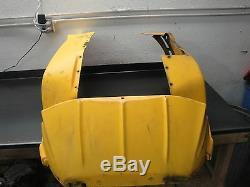 2002 02 Ski Doo 700 Summit Mxz Snowmobile Body Yellow Plastic Skid Plate Frame