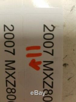 2007 Skidoo MXZ 800 MXZ800 REV skid rails chassis