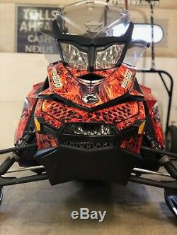 Ski-Doo XP Chassis GRIMM REA Decal Kit fits 2008-2017 Carburated and etec Models