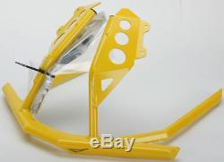 Skinz Bret Rasmussen Custom Front Bumper Yellow For 2013-2019 Ski-Doo XS Chassis
