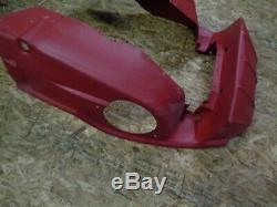 02-03 Ski Doo Zx Châssis Motoneige Corps En Plastique Rouge Ventral # 3