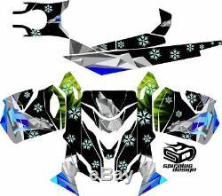 Ski-doo Mxz Renegade Gsx 600 800 Traîneau À Wrap Graphique Xs Le Châssis Du Nord