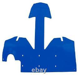 Ski-doo Nouvelle Plaque Oem Extreme Skid Bleu Bulkhead / Châssis Rev-xp Protector